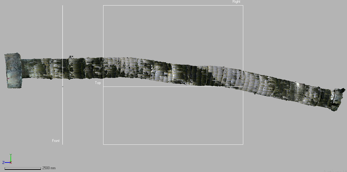 Point cloud generated using the parameters previously shown.